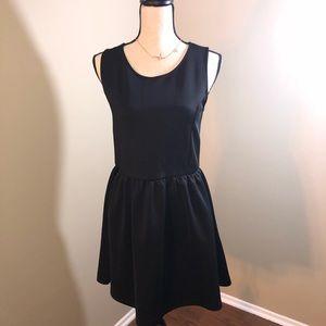 Black Fit and Flare Tea 🍵 Dress - Size Medium